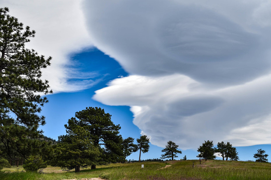 Wave clouds over Betasso Preserve