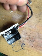 Short circuit on black cable