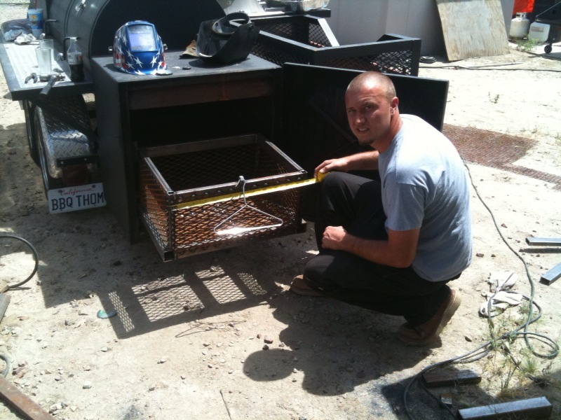 Kyle builds a new charcoal basket