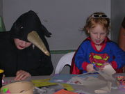 The Bridge - Stacey and Bee at the Art Table on Halloween Sunday