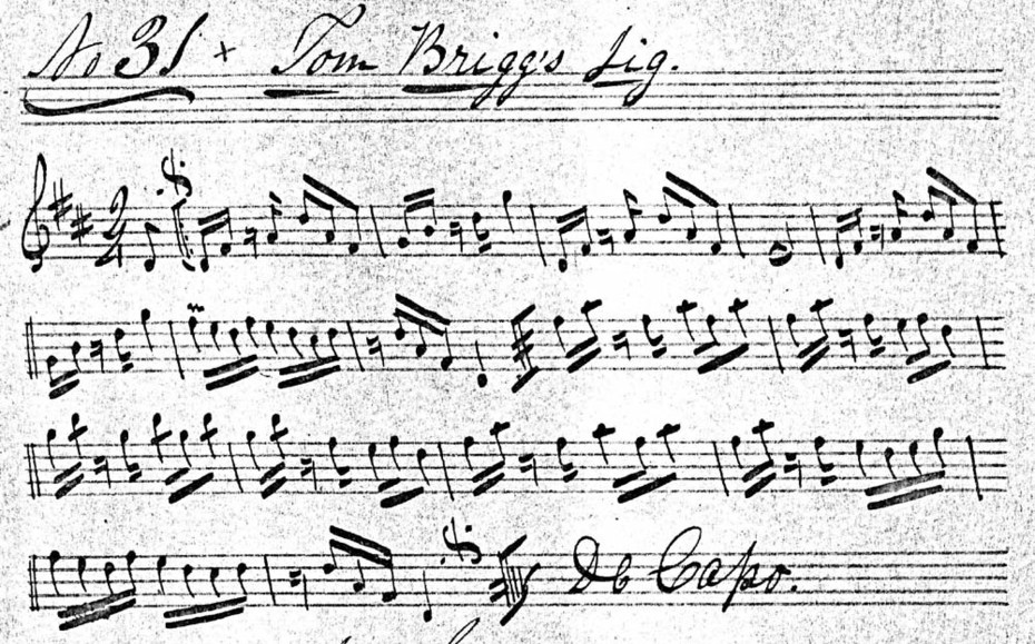 Tom Briggs' Jig, from Emmett MS