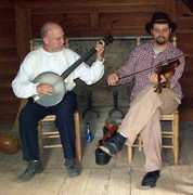 Mark Weems and Joe Ayers at the Bennett Place, NC