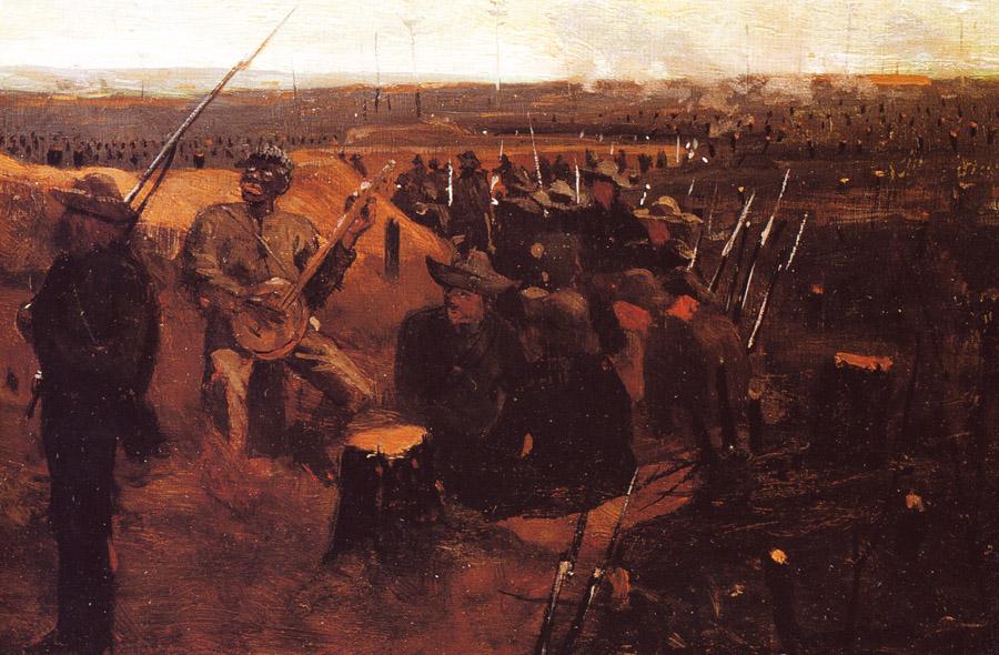 """Winslow Homer, """"Defiance"""" Detail 1"""