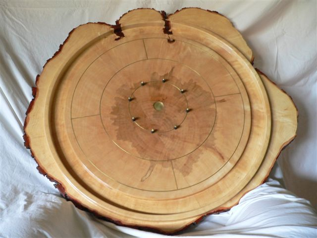 Crokinole board created by Clif.