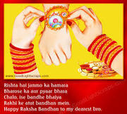 Superb and also Vibrant Rakhi intended for Bro Living from Distinctive Area of the Land