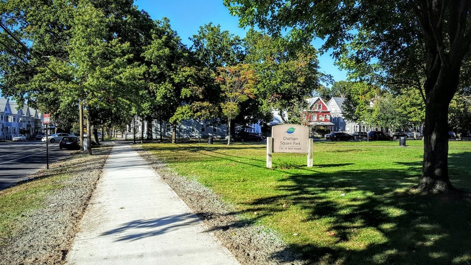New Chatham Square Park sidewalks