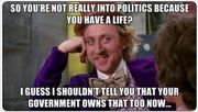 Government owns that too