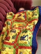 My grandson Roscoe with his quilt