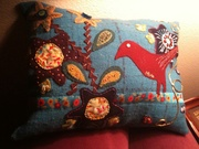 Wool appliqué Pillow for Patty