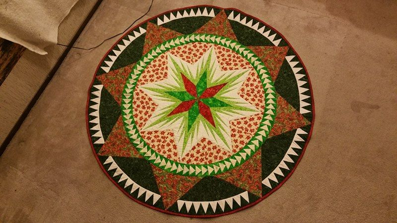 Christmas celebrations tree skirt completed