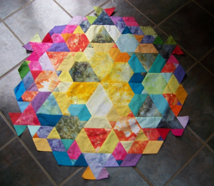 5 months of patch of the day temperature quilt, starts at pin