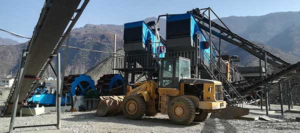 sand washer with dewatering screen