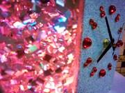 Rare French glitter clock 10