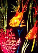Vintage aquatic glitter