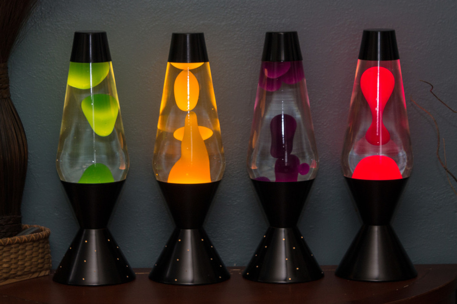 Entire line of 52oz Lava Lite NEONs from Spencer's