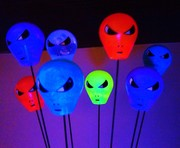 Alien Cosmic Drops under black light