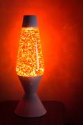 Kirk's orange STAR-shaped glitter in my old Neon globe