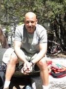 Taking a break at Yosemite