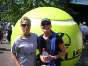 Me and Mo at US Open 2009