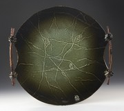 Green Wall Disk With Web Texture