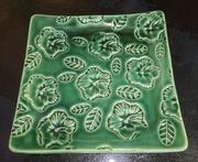 Square Hibiscus Plate