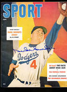 Signed Magazines with Brooklyn Dodgers on the cover
