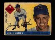 1955 Topps signed by Jim Hughes