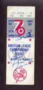 1976 Game 5 ALCS ticket signed by Chris Chamblis -Walk off HR.