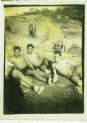 Represa da Usina DR.Gravata deitado Colete, Geraldo Nogueira, Vavá em 1955