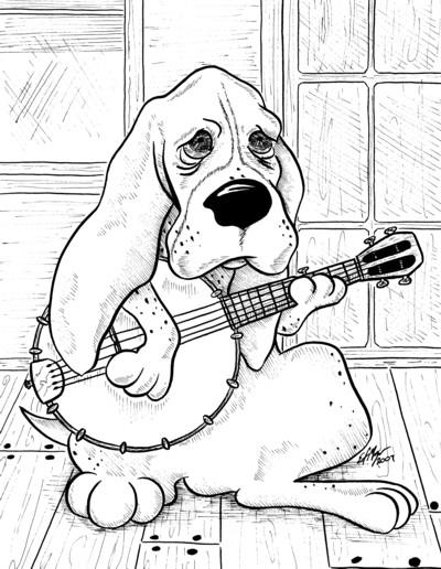 Basset hound banjo
