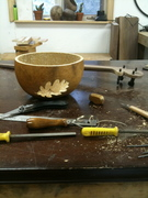 Making an Oak-themed Tenor Gourd Banjo