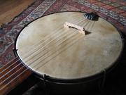 Ed's banjo: dyed skin