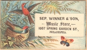 Septimus Winner trade card