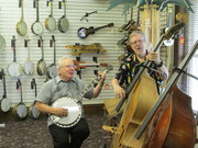Brothers jamming at Elderly Instruments