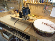 Routing a smooth surface for a new finger board.