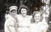 1943 Phil Riley (Lester's brother)-Helen Dixon Riley -Clara Riley (Phils wife) at Riley homestead in Wisconsin