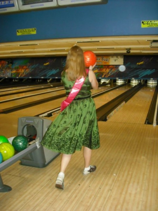 Bowling Shoes and a Bella Dress
