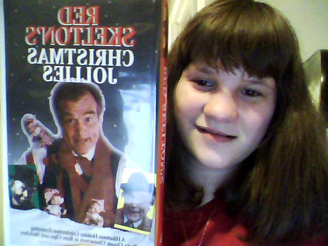 Me holding my Red Skelton Christmas movie