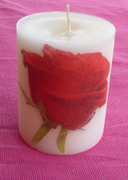 Κερί με τριαντάφυλλο