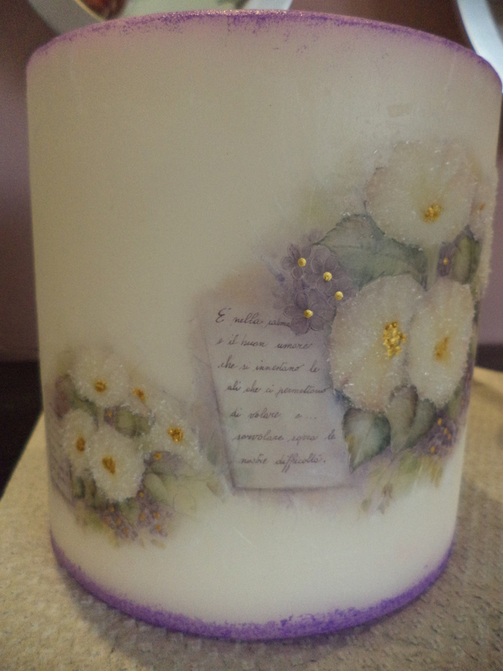 κουφωτο κερι με κρυσταλλάκια
