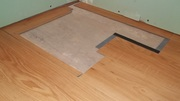 Bathroom floor before and after