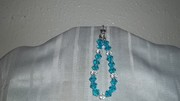 Turquoise and clear beaded bracelet