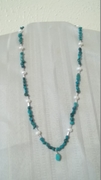 Turquoise, pearls & silver beads
