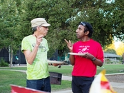 Ron and Mammen at PARC Summer BBQ 2013