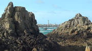 Le phare du Créac'h vue de Yusin, Ouessant