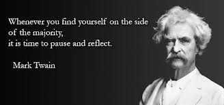 Mark Twain Quote on the Majority - Citizens Party