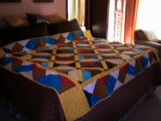 "Mom's Bow Tie Quilt. Using 'Quilt as You Go""."