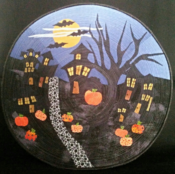 Halloween Quilted Art Bowl