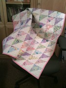 Half Square Triangle Baby Quilt