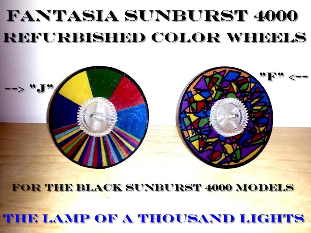 NEW! REPLACEMENT COLOR WHEELS SUNBURST 4000, COSMOS 5000, SOLAR 1 FANTASIA